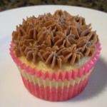 Chocolate Chip Cupcake with Nutella Frosting