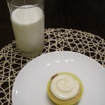 Vanilla-Almond Brown Sugar Cupcakes with Almond-Cream Cheese Frosting