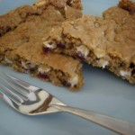White Chocolate Cranberry Oat Wedges