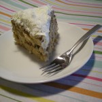 Tropical Banana Cake with Fluffy Maple Coconut Frosting
